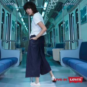 Levi's窦靖童同款阔腿牛仔裤