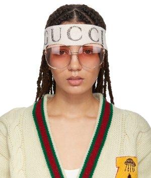 Gucci: White Teban Vintage Headband | SSENSE