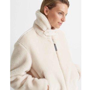 Club MonacoCropped Faux Fur Jacket