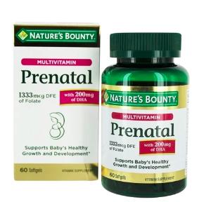 Buy Nature's Bounty - Prenatal Multivitamin Baby's Healthy Growth & Development Support - 60 Softgels at LuckyVitamin.com