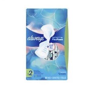 第2件半价+优惠券减$1Always 多款液体卫生巾促销 多种尺寸可选