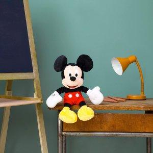 低至8折 €12.4起收米奇Disney 迪士尼毛绒公仔热促 各个尺寸都有 快把小可爱带回家