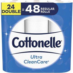 $18.95(原价$28.33)Cottonelle 舒适厕纸 24大卷 相当于48卷 全新波浪纹理
