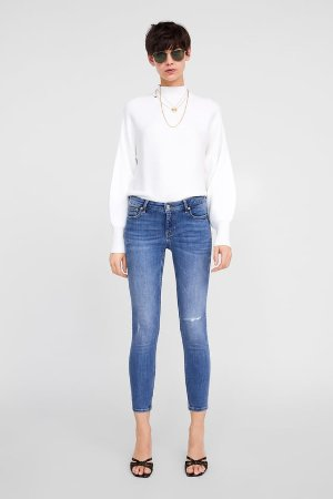 ZW PREMIUM SKINNY JEANS IN MALDIVES BLUE - View All-JEANS-WOMAN-SALE | ZARA United States