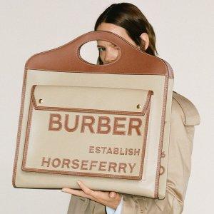 8.5折 £620入手新款托特包Burberry 新品好折齐上线 时髦女孩快看过来