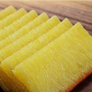 片片金黄 入口即化一盘拥有鱼翅纹的美味椰汁黄金糕