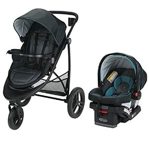 $144.59(原价$259.99)  7种组合方式史低价:Graco Modes 3 推车+安全座椅旅行套装 双向可调