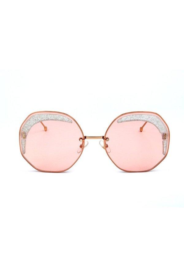 粉色闪钻墨镜