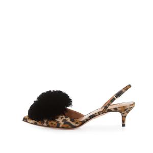 $389+包邮Aquazzura 尖头豹纹高跟鞋