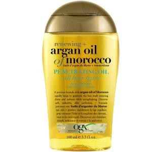 $6.97(原价$8.47)收100mlOGX 摩洛哥护发精油 含甘油成分 摩洛哥护发油平替 平价大碗