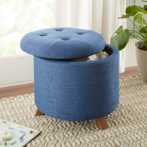 Better Homes & Gardens Colette Tufted Storage Ottoman