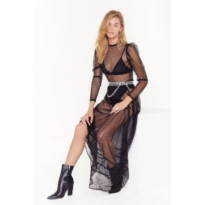 Nasty GalMesh is Yet to Come Lace Maxi Dress | Shop Clothes at Nasty Gal!