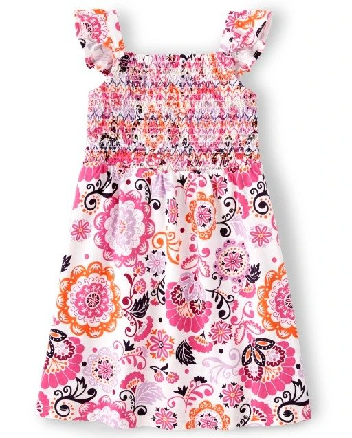 女童印花连衣裙