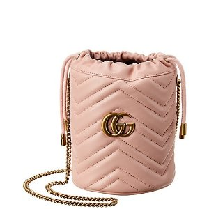 GucciGG Marmont Mini Matelasse Leather Bucket Bag