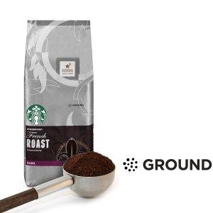 $7.59 如同咖啡厅般的豆香四溢星巴克 法式深度烘焙咖啡粉 20oz