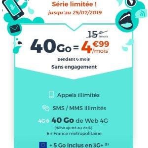 €4.99享受40G流量 无线通话时间和短信Cdiscount mobile 超值套餐 是时候换手机套餐啦
