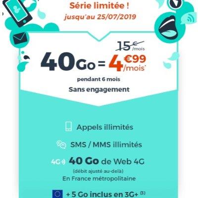 €4.99享受40G流量 无线通话时间和短信