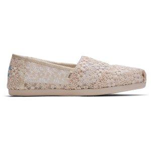 Toms蕾丝渔夫鞋