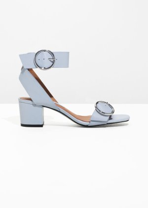 Circle Buckle Sandals - Light Grey - Sandalettes - & Other Stories US