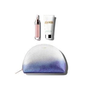 La Mer唇部精华+护手霜+化妆包3件套