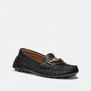 Coach2.5折超值好价Turnlock 纯皮豆豆鞋