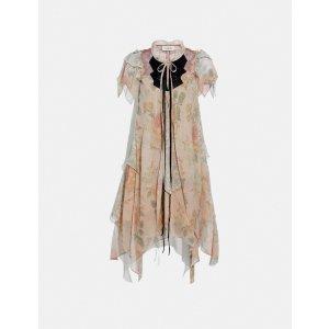 CoachMini Tiered Dress With Ruffle Sleeve