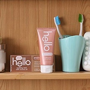 $4Hello Oral Care Sensitivity Relief Toothpaste, Soothing Mint with Coconut Oil, 4 Ounce