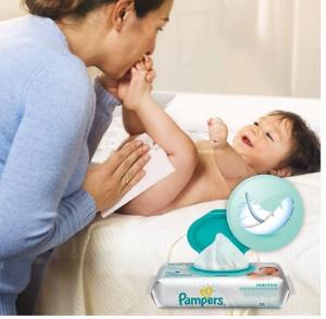 销量冠军 $18.97(原价$24.98)Pampers Baby天然清洁皮肤型婴儿湿巾 无香型1154张