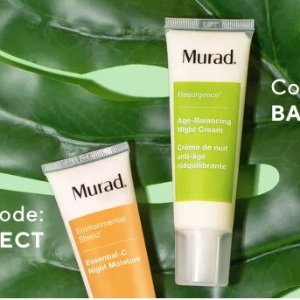 Get FREE Age Balance Night Cream ($77 value)with the purchase of one night moisture cream @Murad