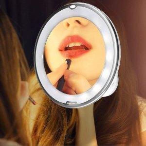 $27.99(原价$33.99)Beautural LED化妆镜 10倍放大清晰细节
