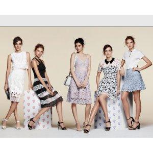 低至4.2折+额外7.5折AQUA 夏季美衣折上折热卖 美腻连衣裙