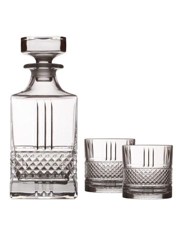 威士忌酒杯+醒酒器3件套