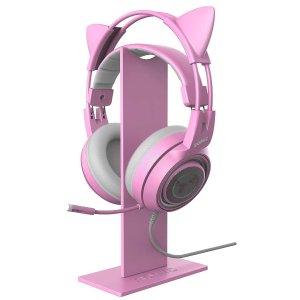 $9.99 史低价收封面款闪购:实用桌面耳机支架专场 RGB双支架版$34.99