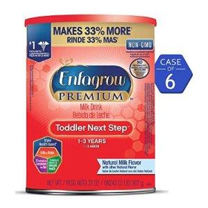 6.5折起 9-18个月 PREMIUM奶粉仅$41补货:Enfagrow 婴幼儿配方奶粉特卖,收PREMIUM 非转基因配方奶粉