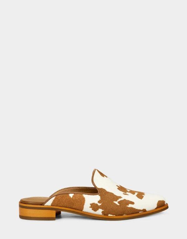East Coast 奶牛纹穆勒鞋