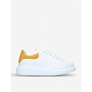 Alexander McQueen官网售价$490黄尾小白鞋
