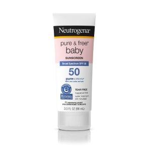Neutrogenabuy2get1Pure & Free® Baby Water Resistant Oxybenzone Free Sunscreen | NEUTROGENA®
