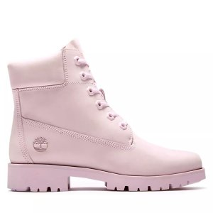 Timberland樱花粉短靴