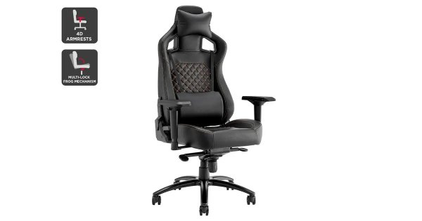 Subzero Quilted Premium Gaming Chair (Black) | Chairs |