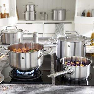 5折!5件套仅€125Zwilling 双立人煮锅套装 高品质不锈钢 适用于所有炉灶、洗碗机
