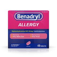 Benadryl 抗过敏药 48粒