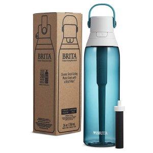 Brita 36377 Premium Water Filter Bottles, Sea Glass, 2 count
