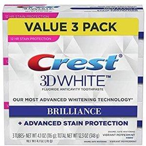 $5.99(原价$16.99)Crest 3D 美白牙膏 3支装
