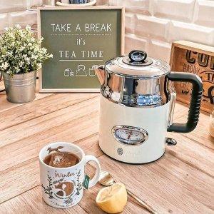 4.9折起 电热水壶€26.9收Russell Hobbs 厨房小家电 超复古造型、粉嫩的颜色引爆少女心