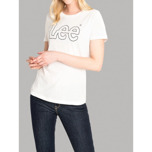 20% off $50Women's Lee European Collection Essential Logo Tee in Off White