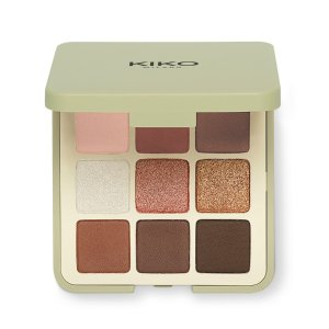 KikoPalette with 9 multi-finish eyeshadows: matte, pearly and metallic - Green Me Eyeshadow Palette - KIKO MILANO