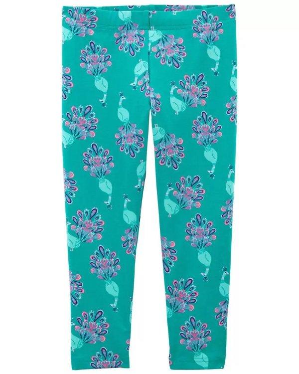儿童花朵7分裤