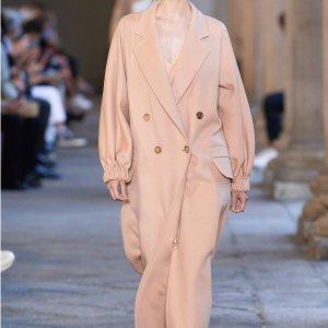 Max Mara100%骆驼绒,码全驼色双排扣大衣