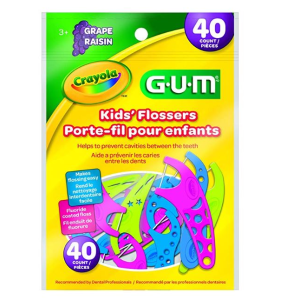$3.49GUM Crayola 葡萄味儿童牙线40个装