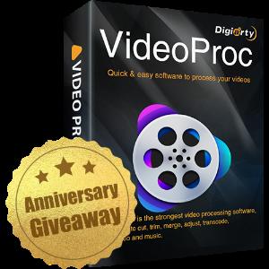 周年回饋, Vlogger必備軟件, 限時特惠VideoProc視頻編輯軟件全功能版本免費大放送(原價$78.9)